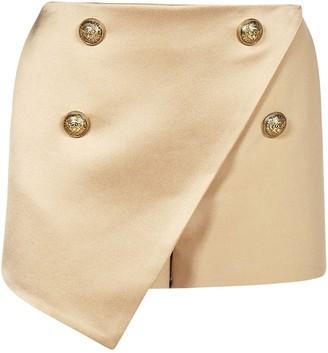 Balmain Button Embellished Skort