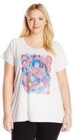 Lucky Brand Women's Plus-Size Multi Color Buddah T-Shirt