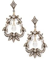 Azaara Vintage Romantic Swarovski Crystal & 14K Gold Fill Wrapped Chandelier Drop Earrings