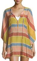 Vix Guadalupe Striped Caftan Coverup