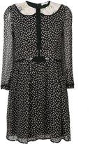 Coach duck print semi-sheer dress - women - Silk/Cupro - 2