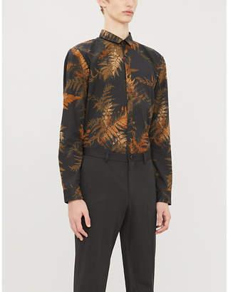 HUGO Extra slim-fit graphic-print cotton shirt