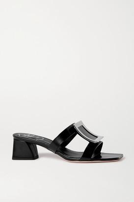 Roger Vivier Bikiviv' Embellished Leather Mules - Black