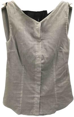 Jil Sander Grey Cotton Top for Women