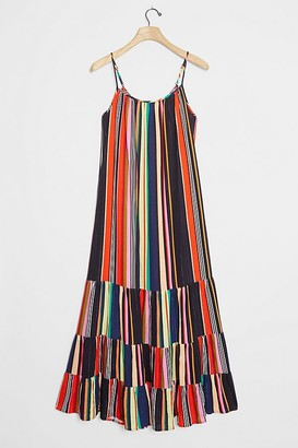 Farm Rio Rainbow Tiered Maxi Dress