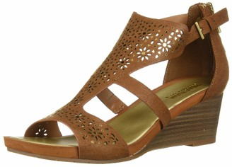 Kenneth Cole Reaction Women's Roll T-Strap Wedge Sandal