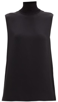 Joseph Balma High-neck Sleeveless Silk Blouse - Black