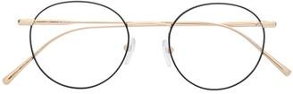 Calvin Klein Two-Tone Round Frame Glasses