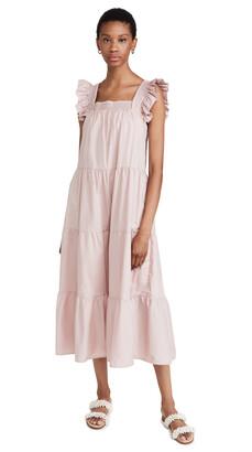 ENGLISH FACTORY Tiered Midi Dress