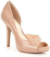 Jessica Simpson Josette Patent Leather Peep-Toe d'Orsay Pumps