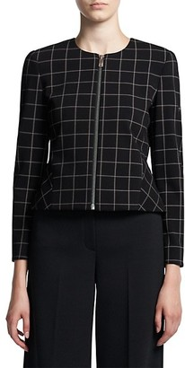 Theory Grid Peplum Zip Jacket