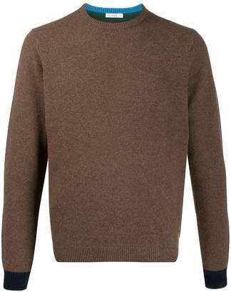 Sun 68 contrast knit jumper
