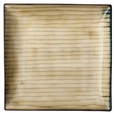 Threshold Square Bamboo Dinner Plate Set of 4 - Tan