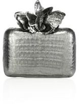 Nancy Gonzalez Metallic Crocodile Butterfly Box Clutch