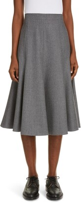 Thom Browne Wool Flannel Flounce Skirt
