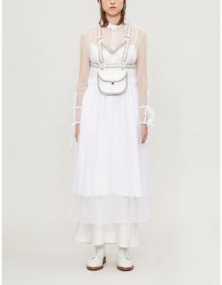 Noir Kei Ninomiya Metallic-embellished leather harness