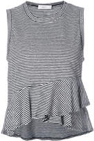 A.L.C. striped ruffled vest top