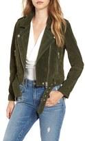 Blank NYC BLANKNYC 'Morning' Suede Moto Jacket
