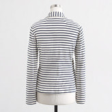 J.Crew Factory Factory stripe knit pocket blazer