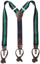Tommy Hilfiger Men's 32mm Stripe Suspender With Clip and Button End With Strap
