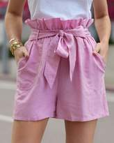 The Drop Women's Orchid Pink Loose Fit Paperbag Waist Short by @paolaalberdi S