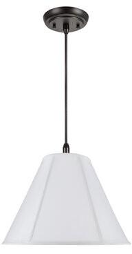 Marvin Winston Porter 1-Light Bell Pendant Winston Porter