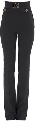 Elisabetta Franchi Logo Embroidered Skinny Trousers