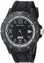 Skechers Men's 'The Harriman' Quartz Metal and Silicone Casual Watch, Color:Black (Model: SR5067)