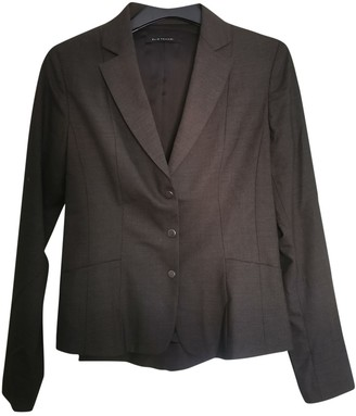 Elie Tahari Anthracite Wool Jacket for Women