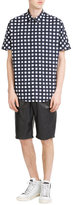Joseph Cotton Check Short Sleeve Button-Down