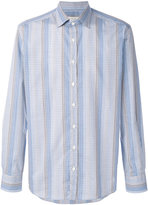Etro striped check shirt - men - Cotton - 39