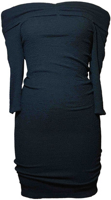Hunza G Navy Synthetic Dresses