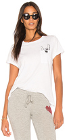 Lauren Moshi Cecille Rock Pocket Tee in White. - size S (also in XS)