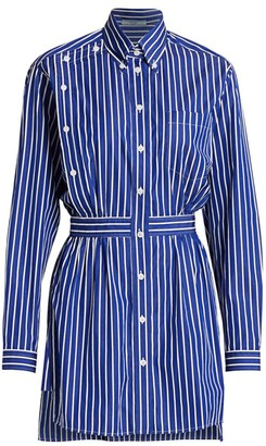 Prada Poplin Striped Shirt Dress