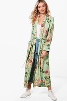boohoo Ella Premium Floral Print Kimono