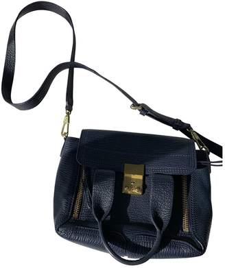3.1 Phillip Lim Pashli Navy Leather Handbags