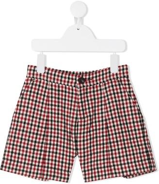 Chloé Kids Check Print Shorts