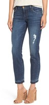 KUT from the Kloth 'Reese' Distressed Stretch Straight Leg Ankle Jeans (Capability) (Regular & Petite)