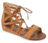 Sam Edelman Kid's Danica Lace-Up Wedge Sandals
