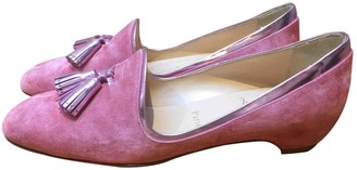 Christian Louboutin Pink Suede Flats