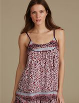 Marks and Spencer Floral Print Strappy Camisole Pyjama Top