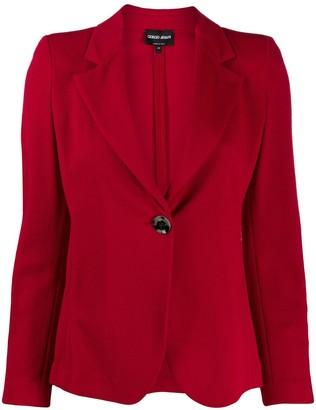 Giorgio Armani one-button fitted blazer