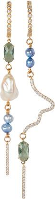 Mounser Bend Asymmetrical Drop Earrings