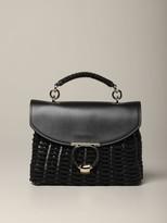 Salvatore Ferragamo Gancini Soft Margograve; Sail Handbag In Woven Leather