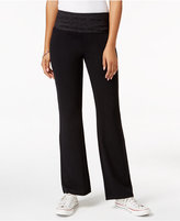 Style&Co. Style & Co. Printed-Waist Yoga Pants, Only at Macy's