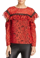 Red Carter Sheffield Lace Top
