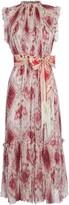 Zimmermann Wavelength Printed Chiffon Dress