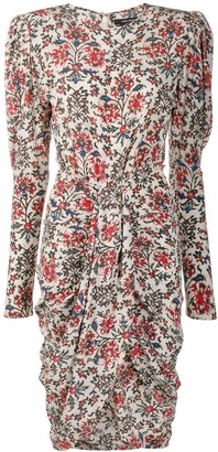 Isabel Marant Frea floral-print draped dress