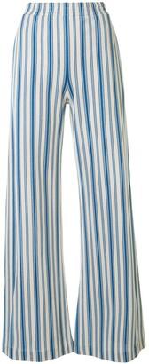 Jil Sander Striped High-Waisted Trousers