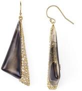 Alexis Bittar Crystal & Lucite Futurist Drop Earrings